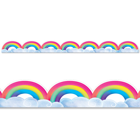 CTP8674 Rainbows and Clouds Border