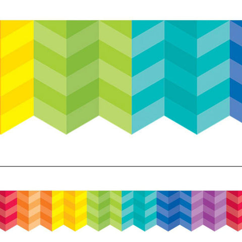 CTP0187 Rainbow Herringbone Border