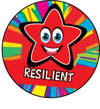DLW13:  Resilient - Red Rainbow Star