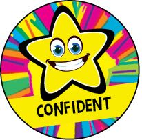DLW15:  Confident - Yellow Rainbow Star