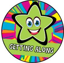 DLW16:  Getting Along - Green Rainbow Star
