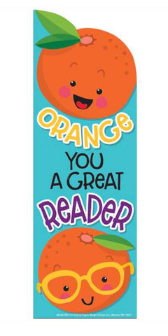 EU-834038 Orange Scented Bookmarks 'Orange You Great Reader' (24 pack)