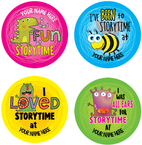 PS47 Storytime Personalised Stickers