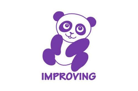 SPST06 Improving Panda, self inking stamper, purple colour