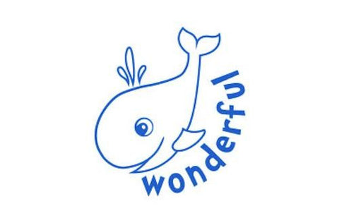 SPST13 Wonderful Whale, self inking stamper, blue colour