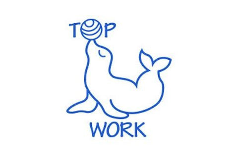 SPST12 Top Work Seal, self inking stamper, blue colour