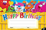 Trend T-81042 Furry Friends Happy Birthday certificates