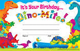 Trend T-81057 Happy Birthday Certificate: Dino Pals