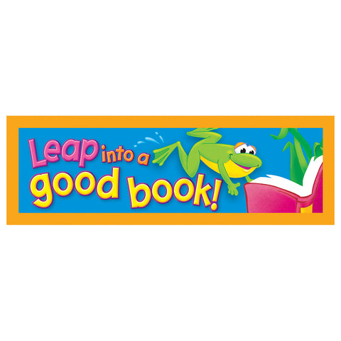 Trend T-12025 Leap Into A Good Book Bookmarks
