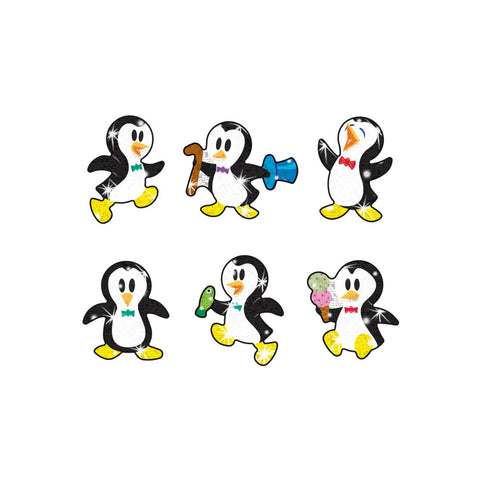 T63045: Proud Penguins Sparkle Stickers