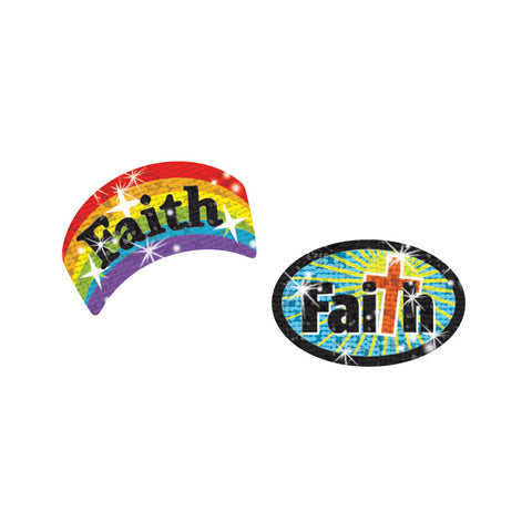 T63702:  Faith Sparkle Stickers