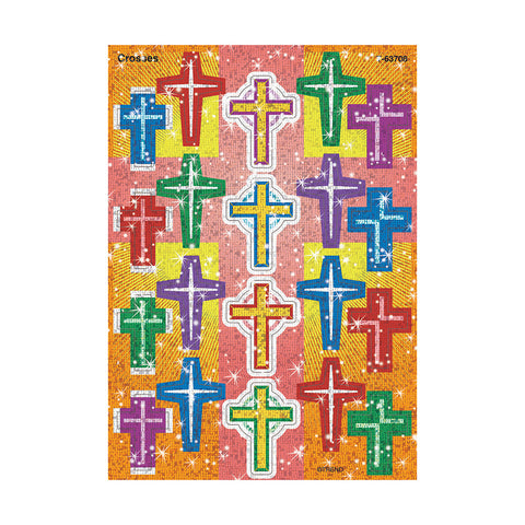 T63708:   Sparkle Cross Stickers