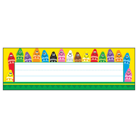 T-69013 Colourful Crayons Nameplates