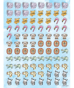 CTP0460: Safari Friends Hot Spots Stickers