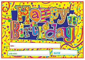 DCX15 Happy Birthday Certificate