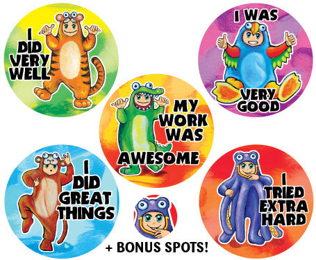 DE10  Reward Stickers: Wild Things