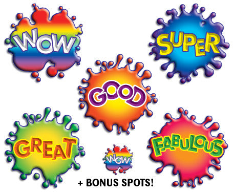 DE17 Reward Stickers: Splash Words