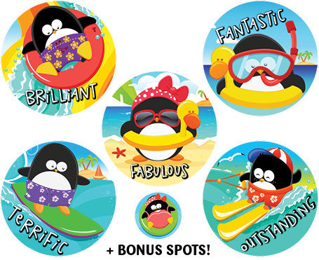 DE18 Penguin Fun Reward Stickers