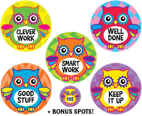 DE19  Reward Stickers: Wise Owls