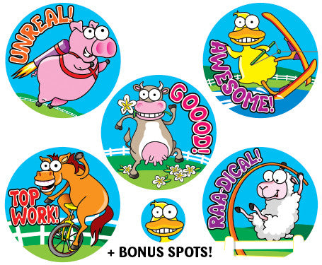 DE1  Reward Stickers: Crazy Farm