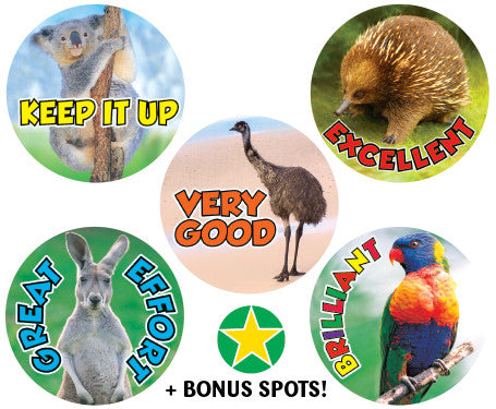 DE45 Reward Stickers: Aussie Animals
