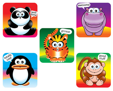 DE5  Reward Stickers: Cute Animals