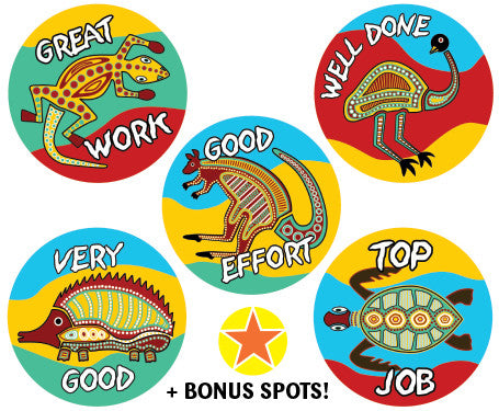 DE64 Reward Stickers: Aboriginal