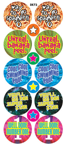 DE73 Reward Stickers: Rhyming Words