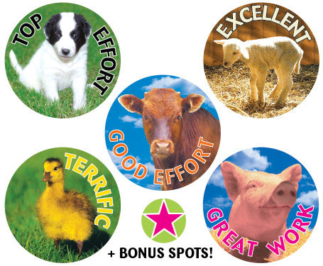 DE74 Reward Stickers: Farm Babies