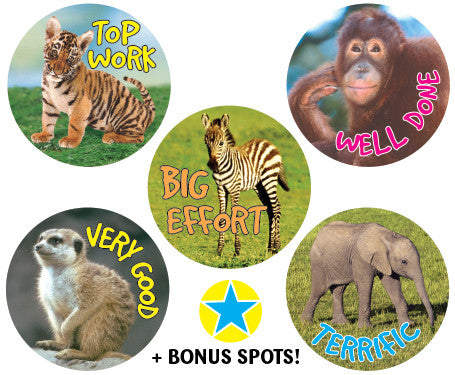 DE75 Reward Stickers: Wild Babies
