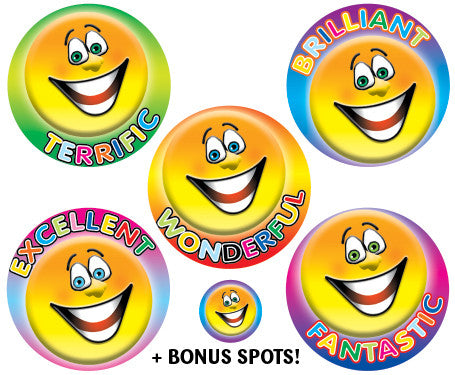 DE85 Reward Stickers: Smiles