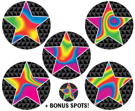 DE89 Reward Stickers: Swirly Stars