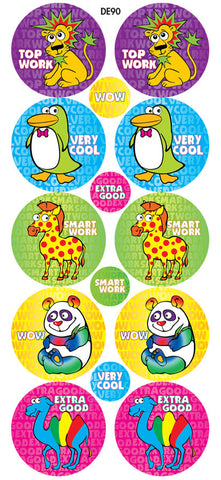 DE90 Reward Stickers: Wacky Zoo