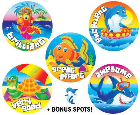 DE99 Reward Stickers: Seaside Fun