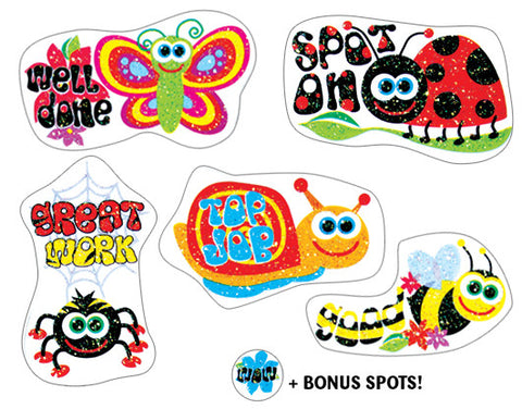 DG11 Glitter Stickers: GlitterBUGS