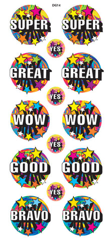 DG14 Glitter Stickers: Star Power