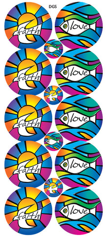 DG5 Glitter Stickers: Stained Glass