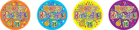 DL004 Happy Birthday Celebrations Stickers 36mm
