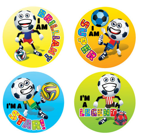 DL06  Soccer Stars Stickers 35mm