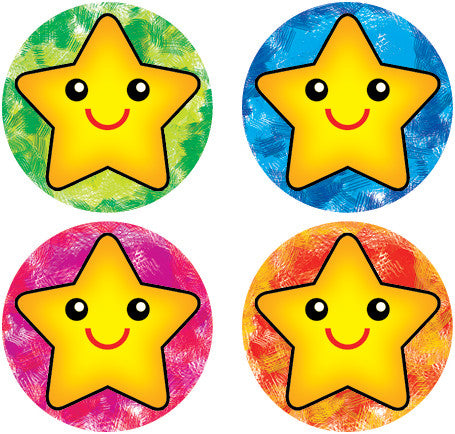 DL007  Crayon Stars Stickers 36mm