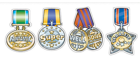 School Merit 266: Medal Stickers - Foil
