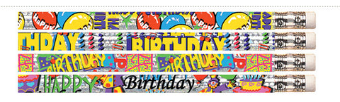 PNX1353: Happy Birthday Glitz pencils (100)