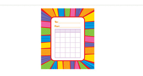 CTP1415: Playful Patterns Incentive Chart