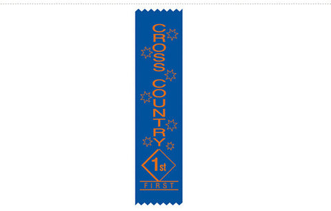 S15: Cross Country Satin Sports Ribbons