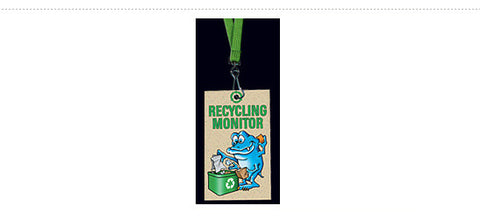 DR14: Classroom Responsibility Tags. Recycling Monitor