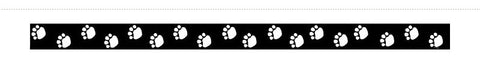 CTP2034: Black Paw Prints. Total 10.7m x 75mm