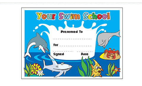 PCS1 Swim School: Personalised Certificate