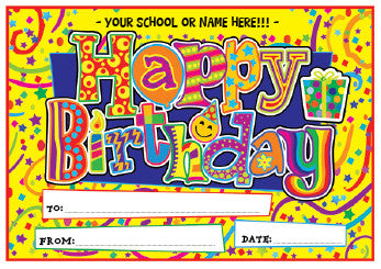 PC01 Happy Birthday Personalised Certificates