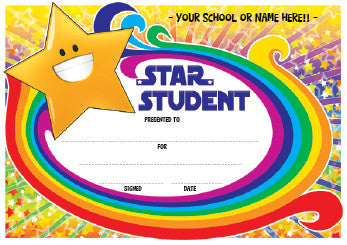 PC02 Star Student Personalised Certificate