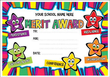PC06 Bright Star Merit Award Personalised Certificate